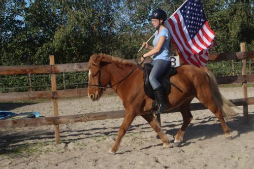 Rijden met de vlag